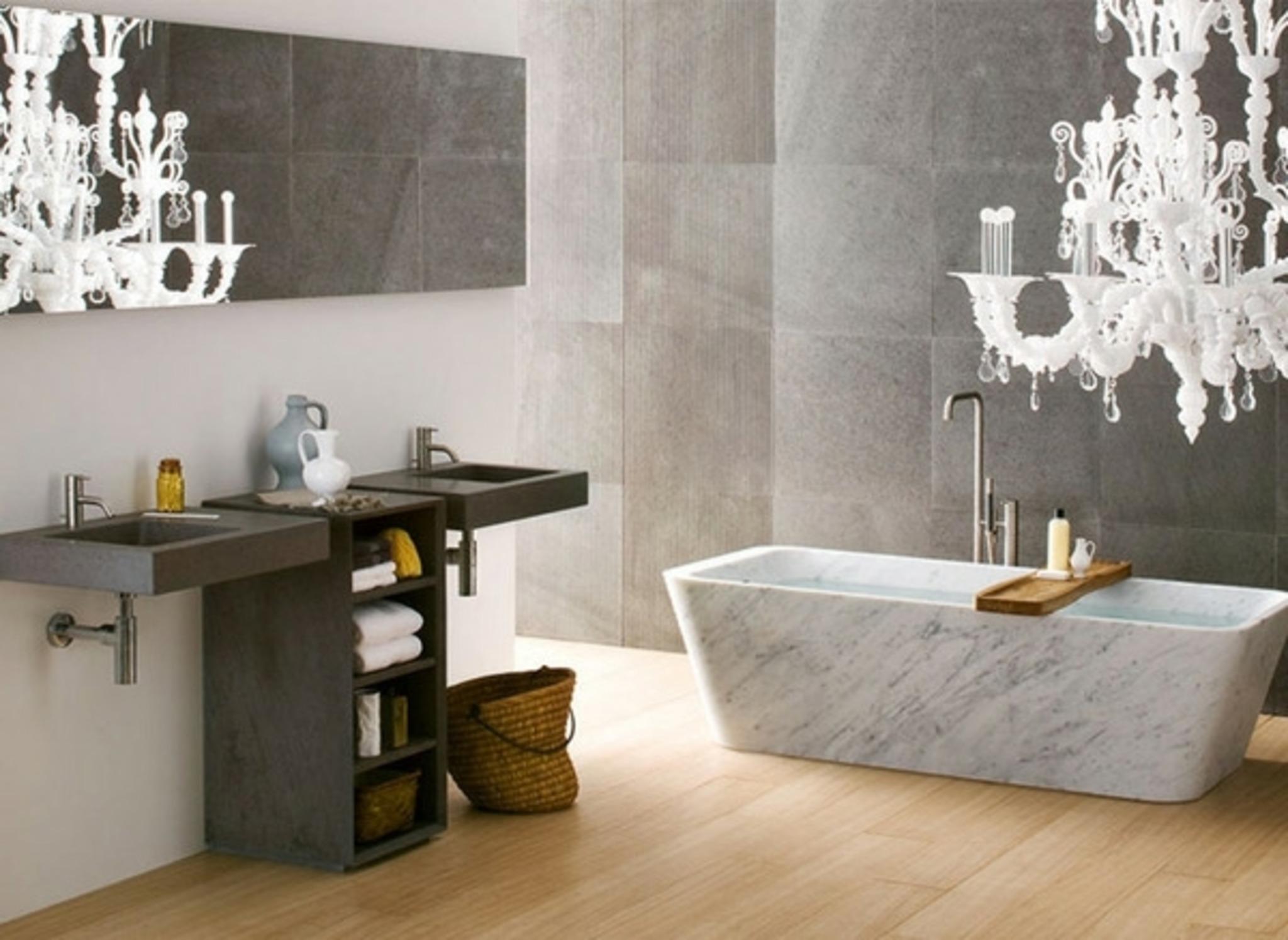 Classic Chandelier For Modern Bathroom