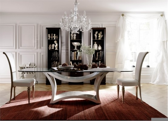 Impressive Glass Dining Room Tables 554 x 398 · 52 kB · jpeg