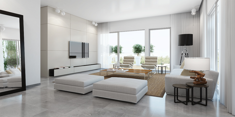 Home white living room