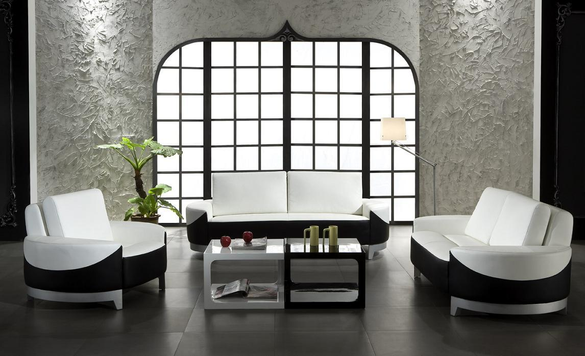 Unique Black White Living Room