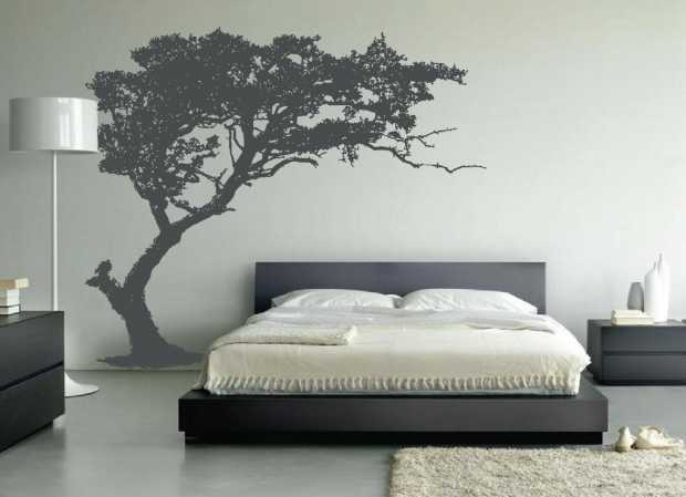 Leaning Tree Wall Decal Bedroom Decor
