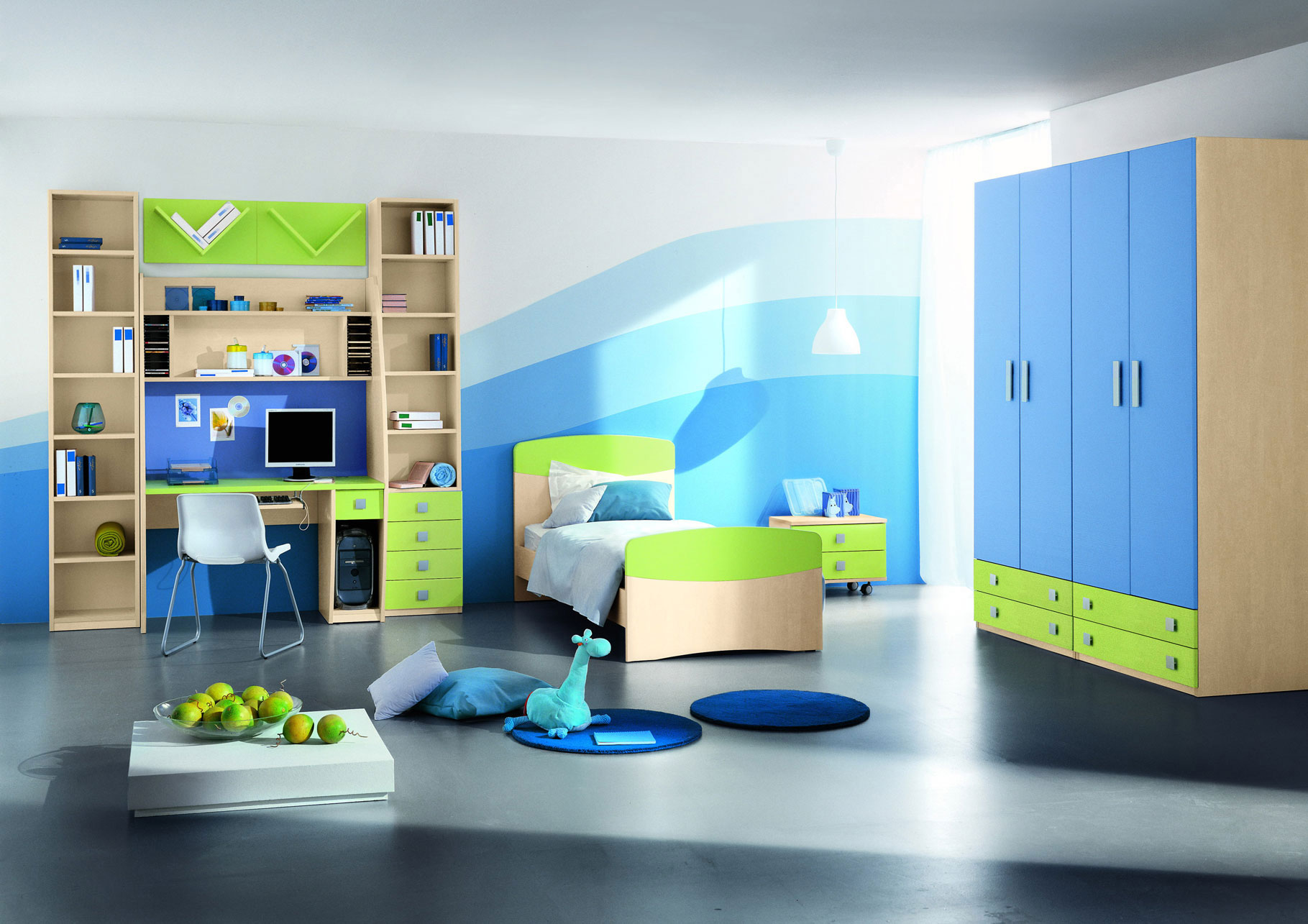Remarkable Kids Bedroom Ideas Blue Room 1819 x 1285 · 287 kB · jpeg