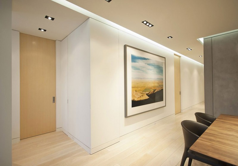 Panorama Painting Hanging On White Dining Room Wall