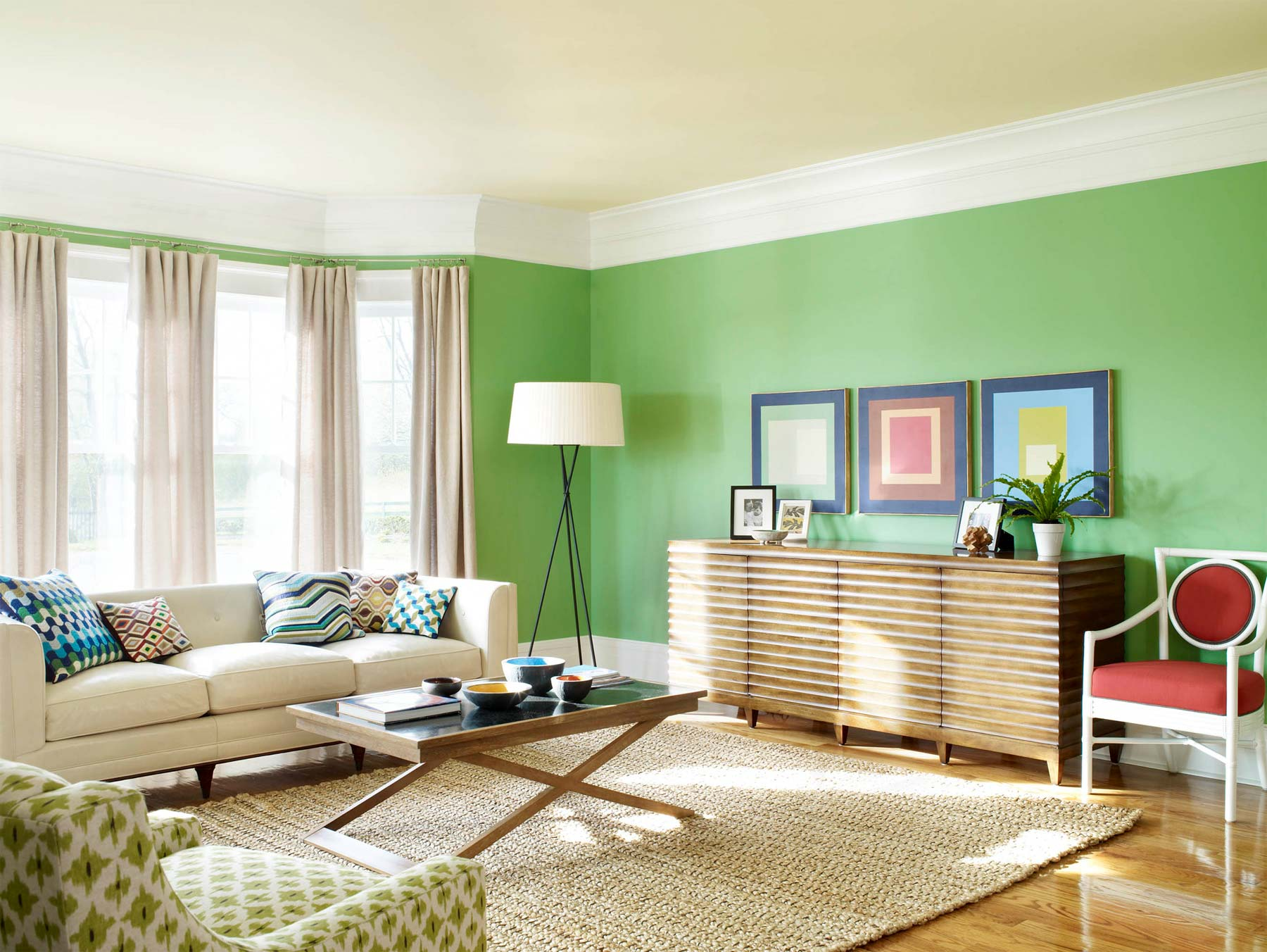 Soft Green Combine With White Make Your Room Look More Bright
