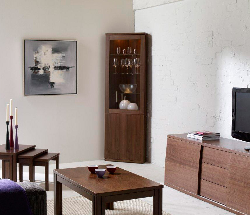Contemporary corner cabinet