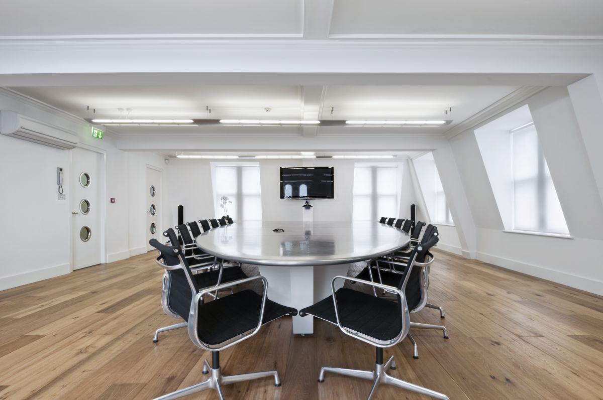Modern meeting room interior decor