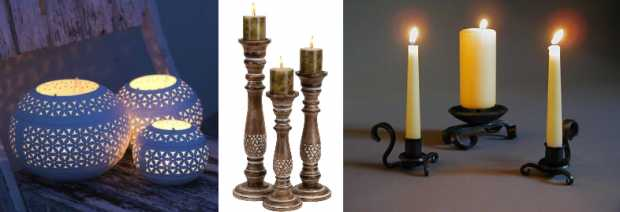Candle Holders Made From Earthen Materials