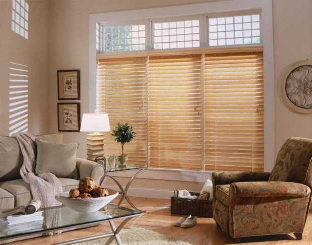 Barnsley Wooden Windows Rolling Blinds