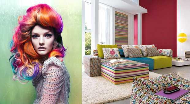 Colorful home décor fashion