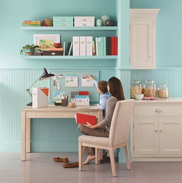 Decluttered desk