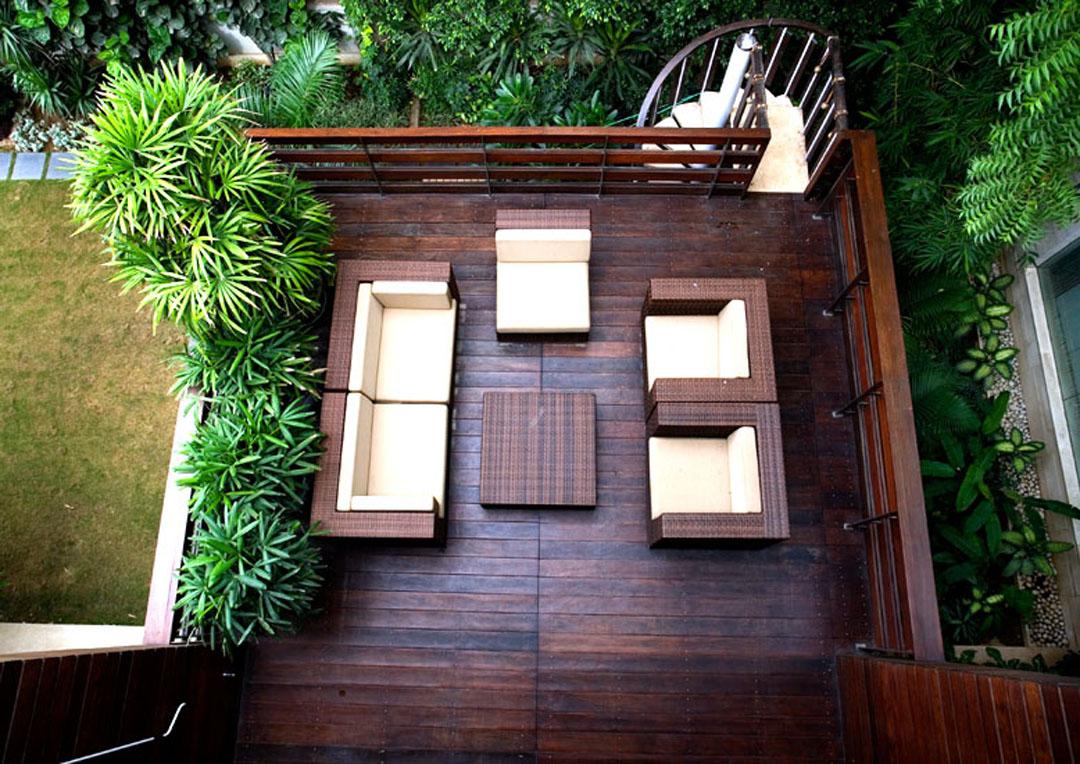 Outside Modern Green Home