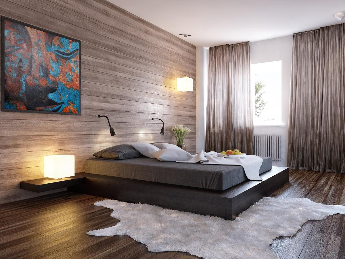 Bedroom Lighting Ideas Delectable With Wood Walls Modern Bedroom Designs Image