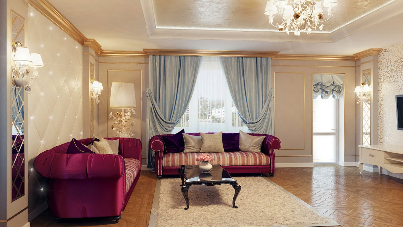 Home interior design living room simple home decoration tips for Living room ideas purple