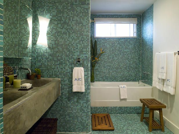 Recycled bathroom tiles