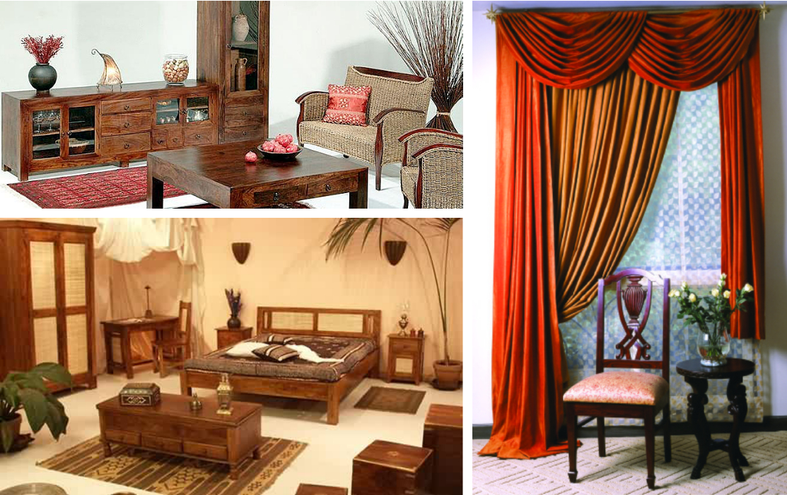 Indian Style Traditional Furniture Styled Home Living Room