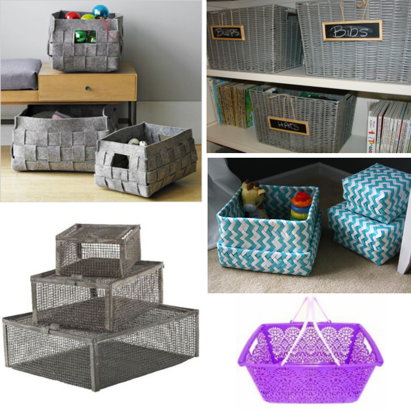 Decorative and Attractive Colorful Storage Bins