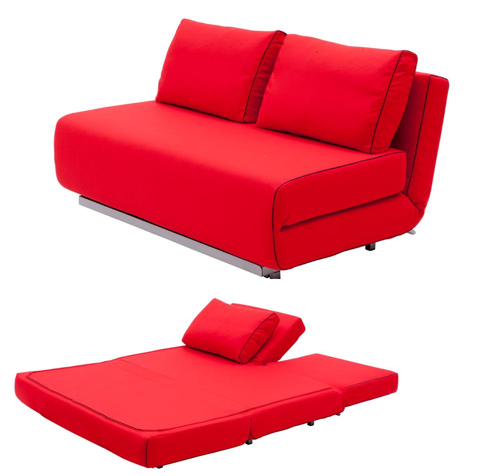 Folding Red Sofa