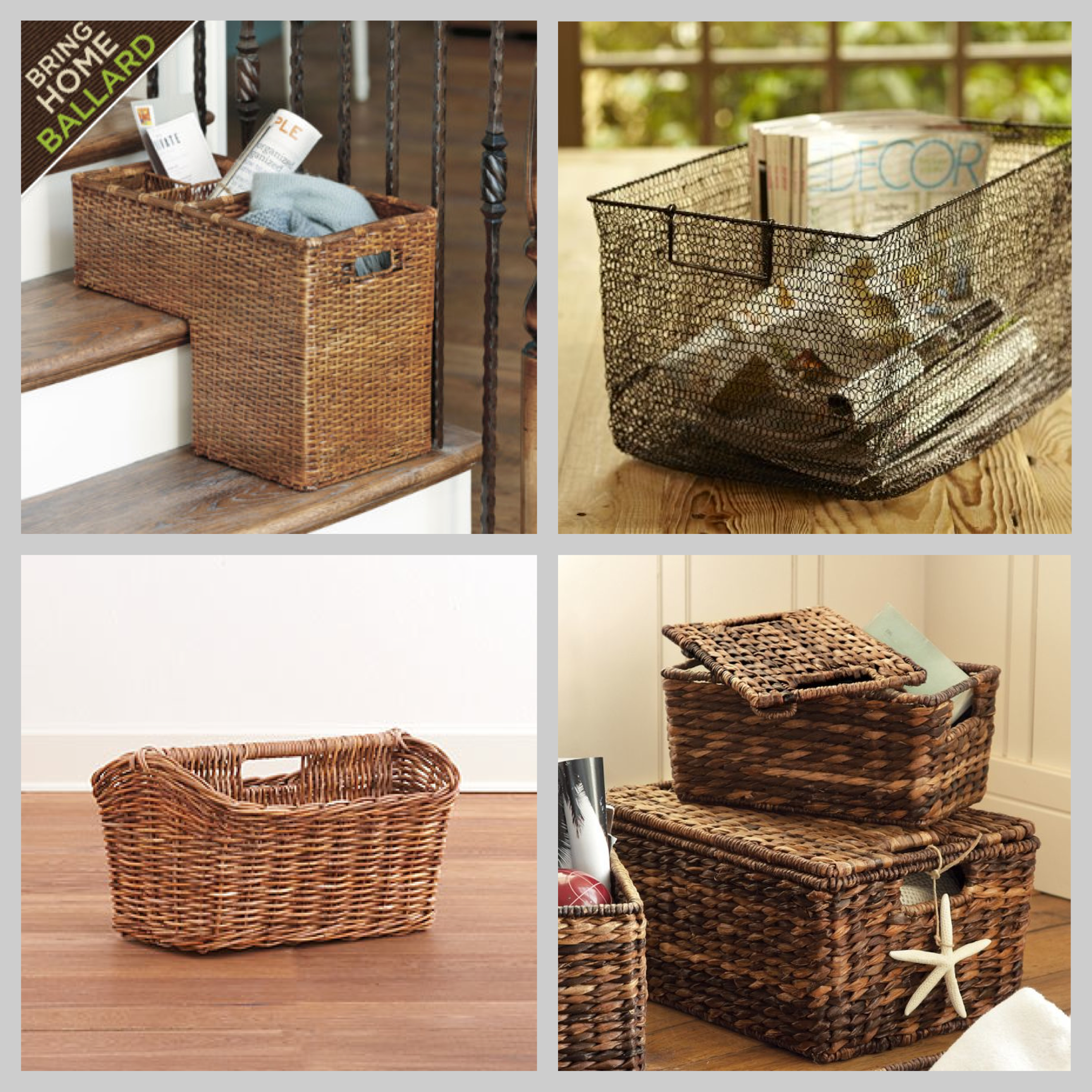 Baskets for Stairs
