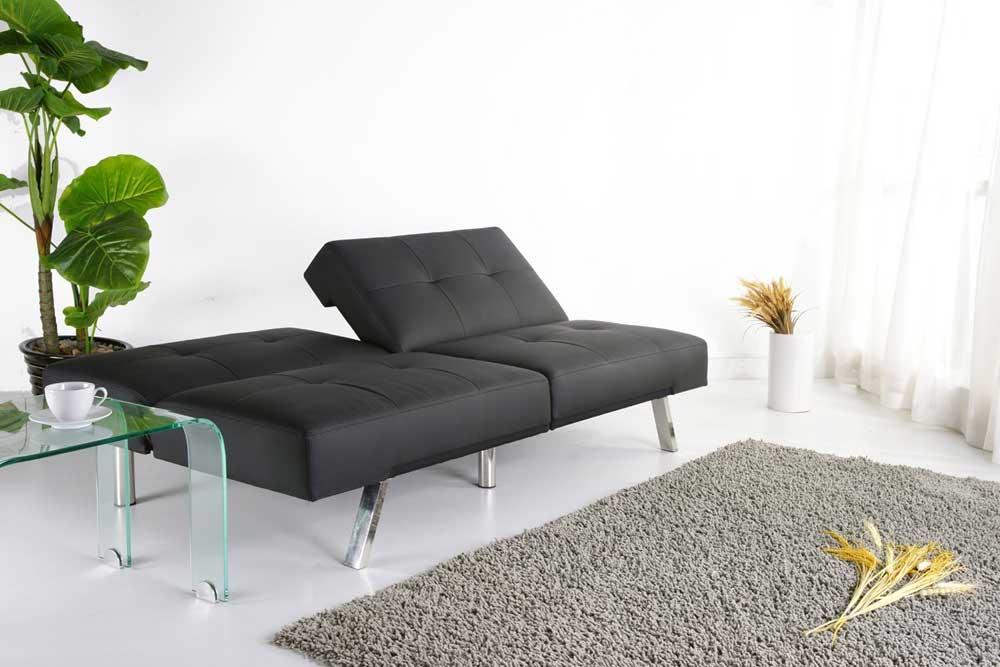 Black Foldable Contemprorary Futon Sofa Bed