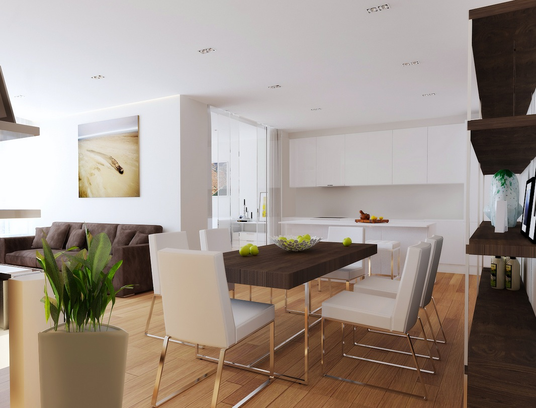 Open Plan Living Room Diner Kitchen