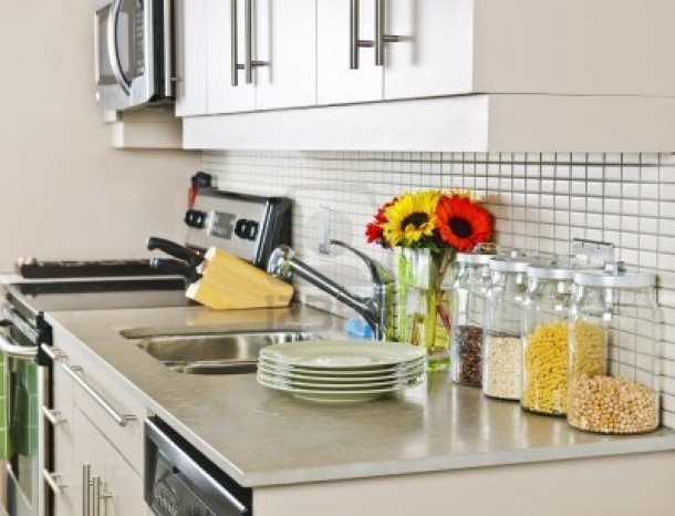 Where to put appliances in a small kitchen countertops