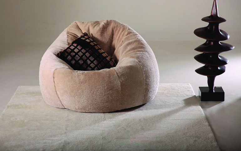 The stuffing of the beanbag chair always gives an unusual yet a