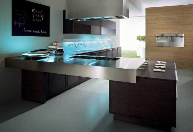 Beautiful contemporary kitchen countertops design