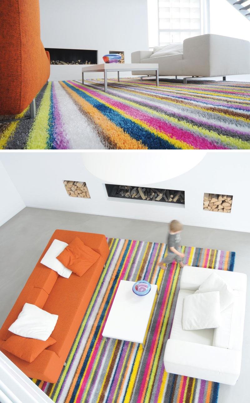 Striped Multi Colours Decorative Carpet