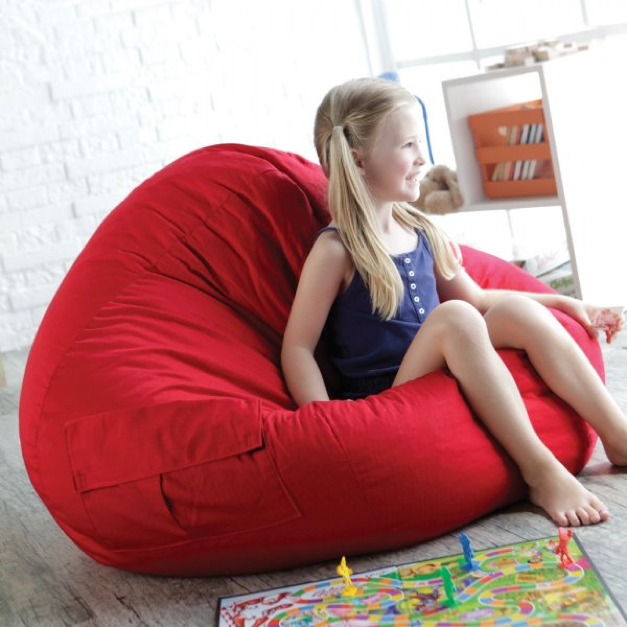 Twill Teardrop Bean Bag Chair