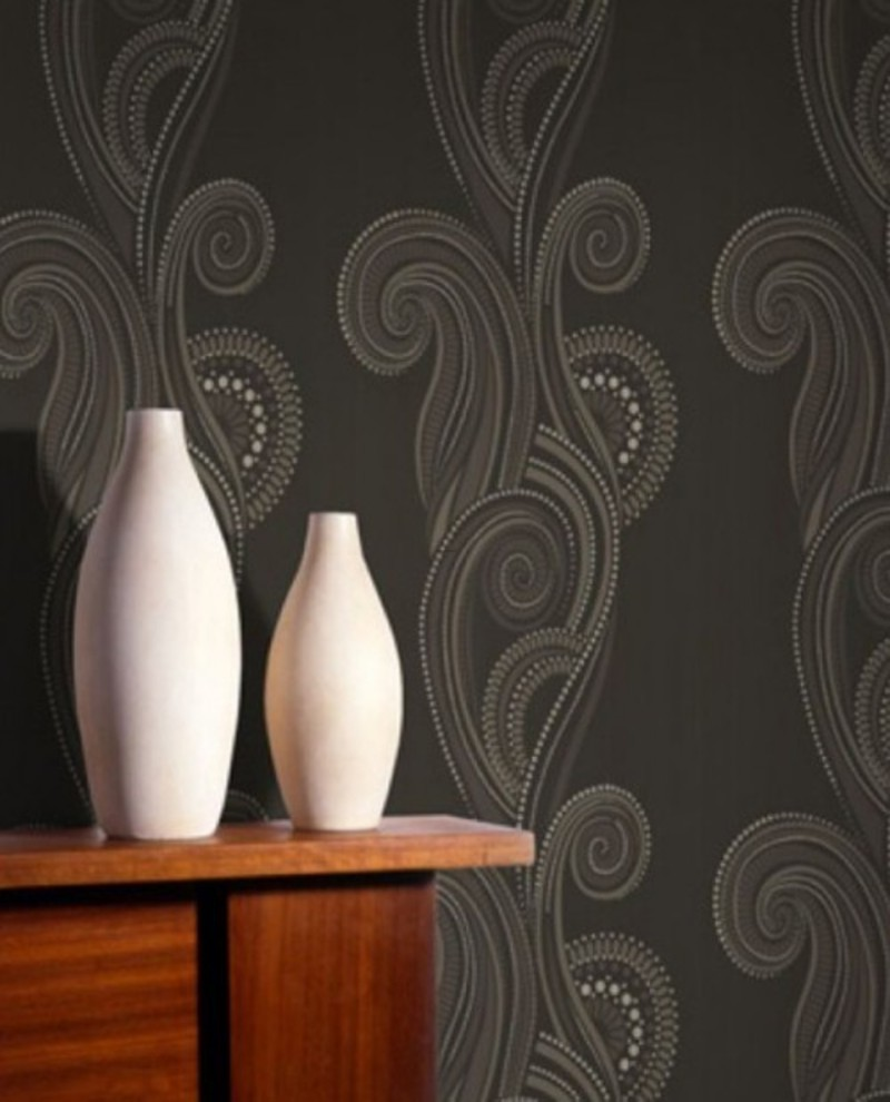 Wallpaper Wall Design Brown Color