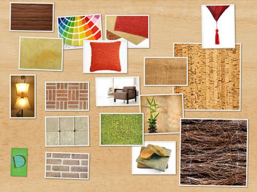 Interior designer material board
