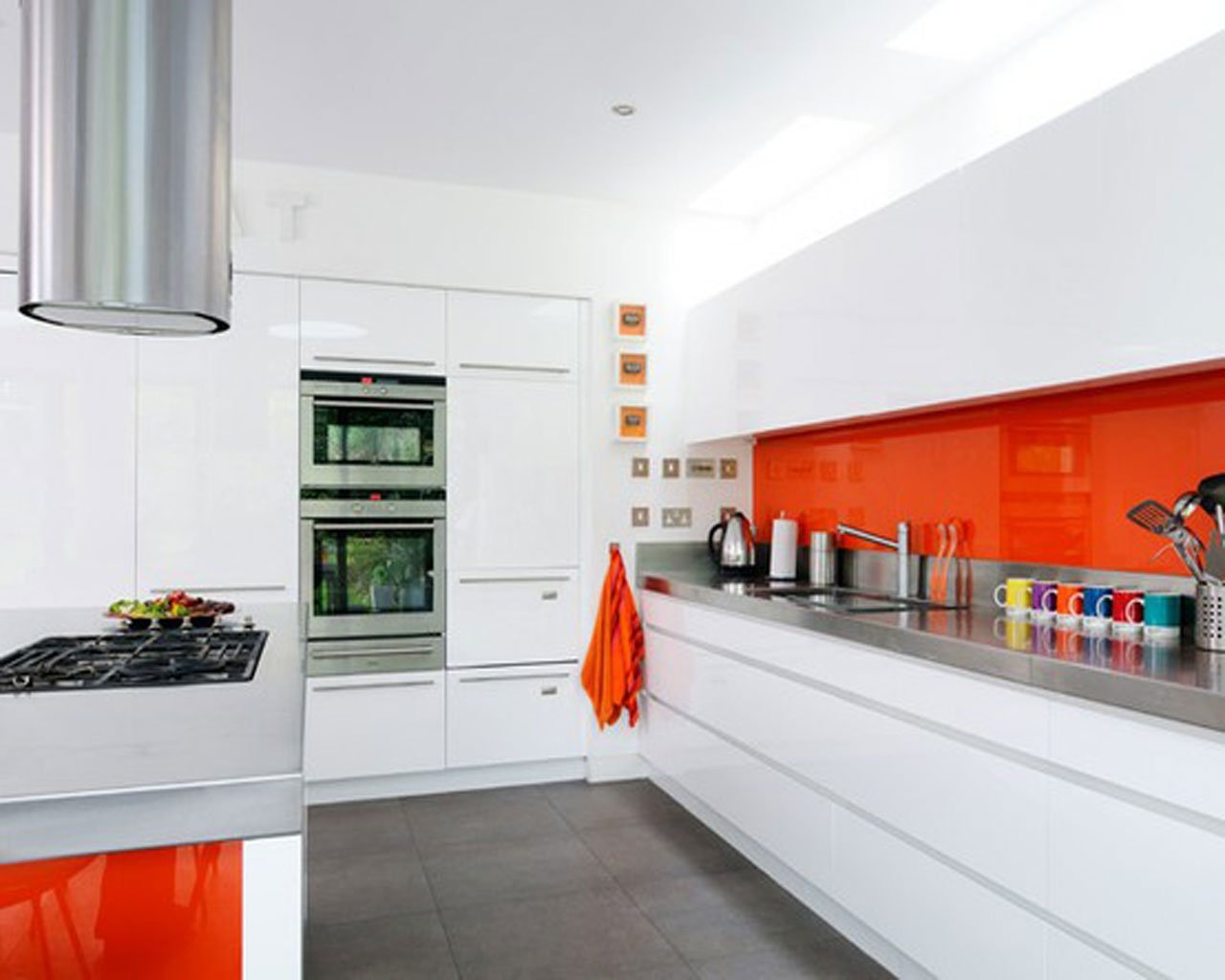 Orange Kitchens Small Orange Kitchen Quicuacom