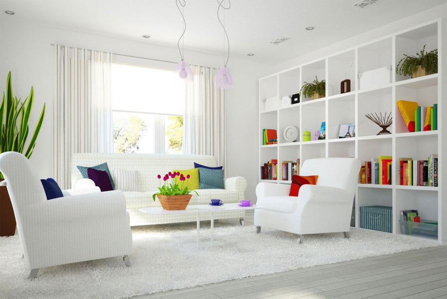 Modern White Interior Home Decoration Pictures
