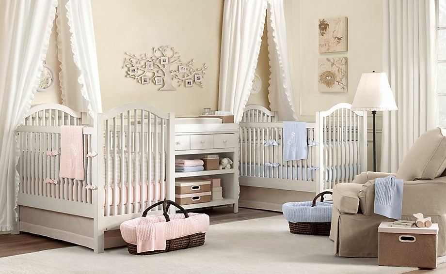 Twin boy girl nursery decorating ideas