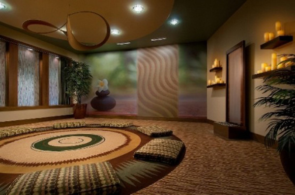 Wooden floor Meditation Room