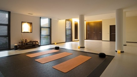 Yoga meditation room designs
