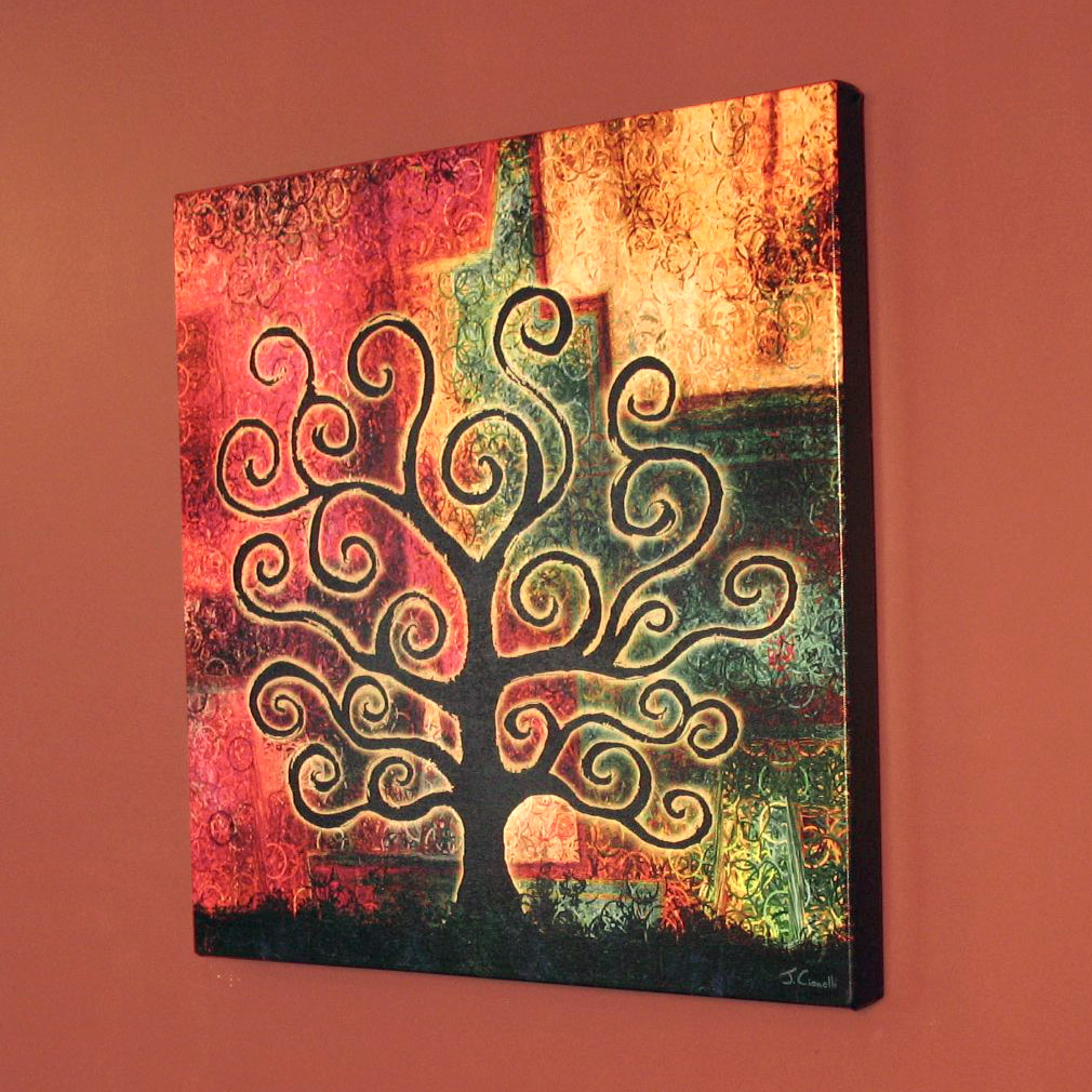 Modern Abstract Tree Canvas Print Art For Home