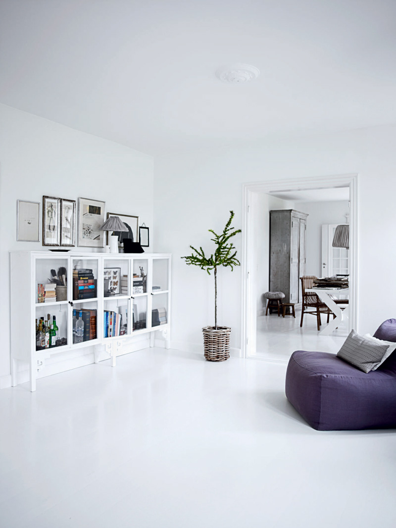 All white home interiors