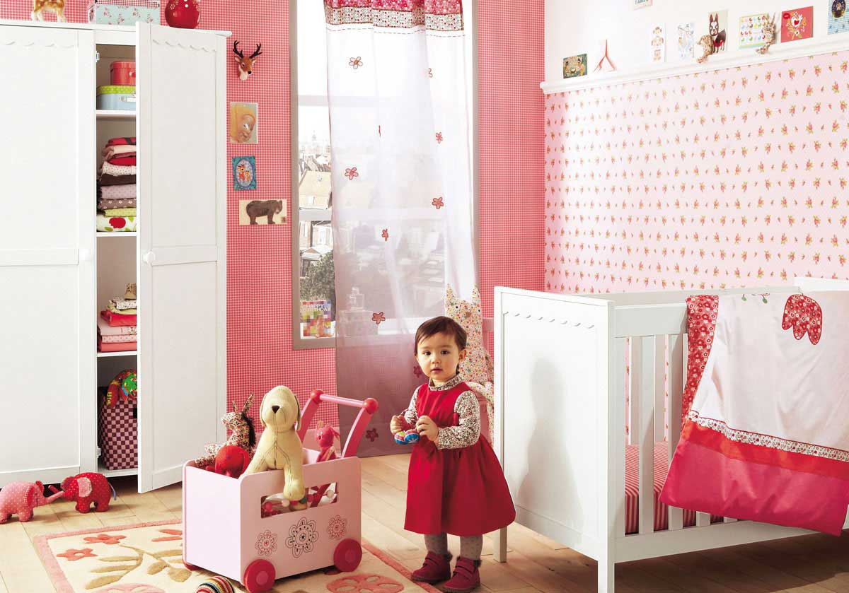 Beautiful pink room ideas for baby