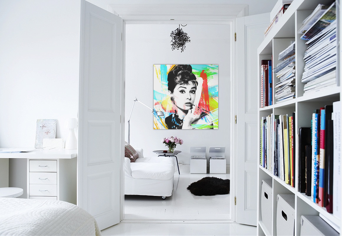 Interior Design White Walls With Art Concept