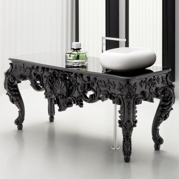 Modern antique bathroom vanities