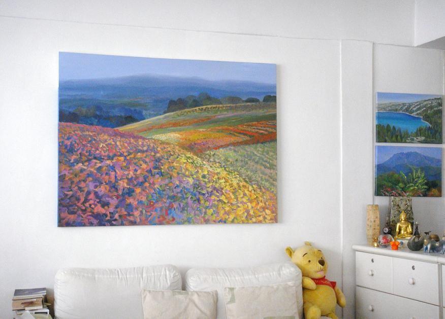 Acrylic Landscape Painting Modern Setting