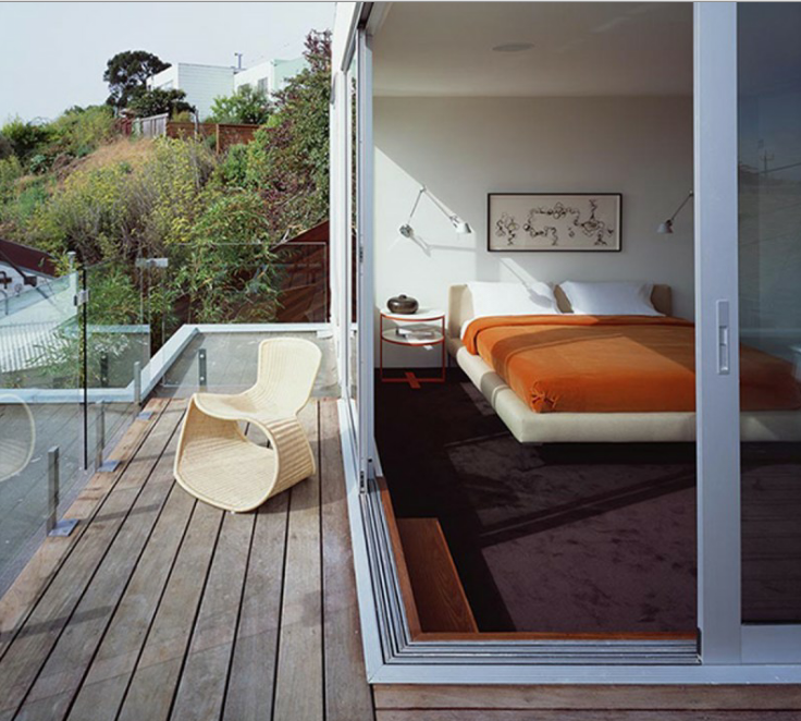 Modern minimal balcony design