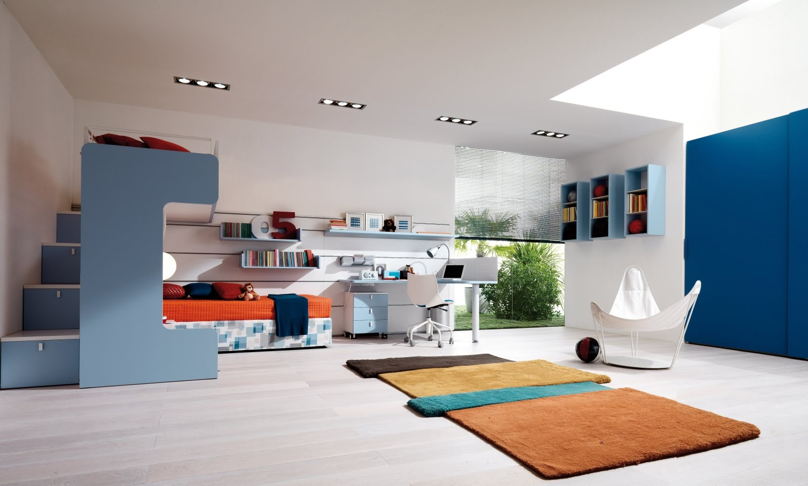 Modern teenagers room design