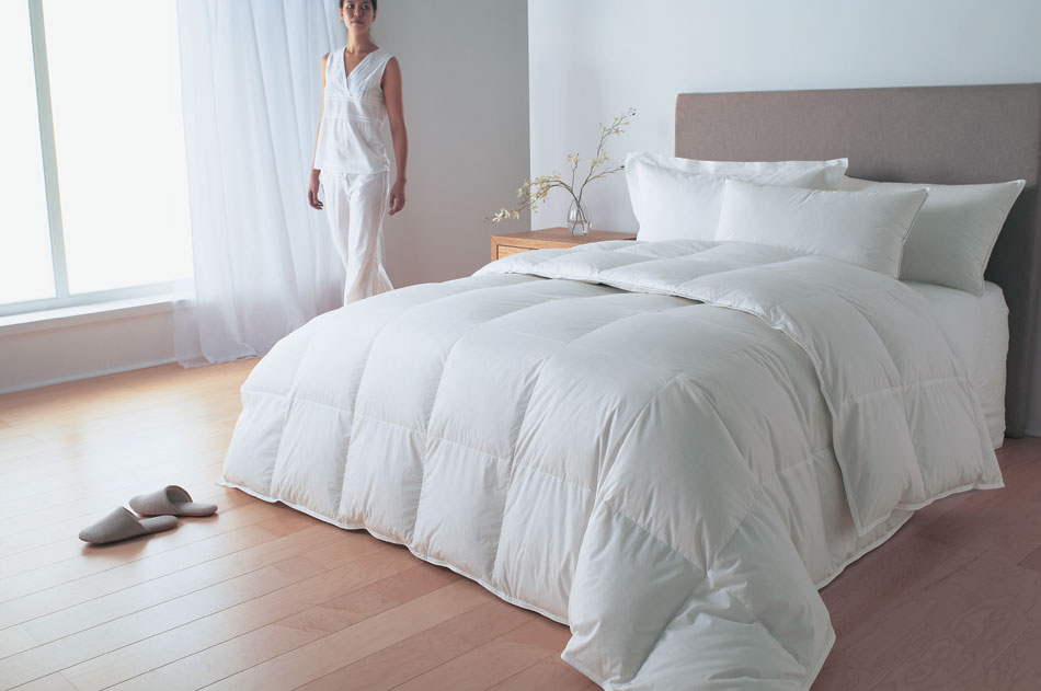 Relaxed Bedroom Down Comforters