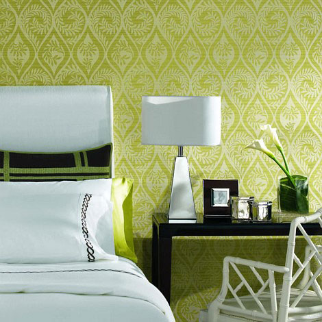 Black white yellow bedroom decor