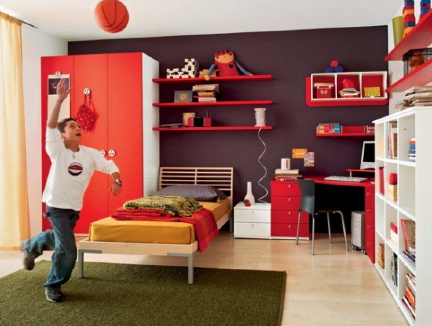 Modern teenage bedroom decorating ideas