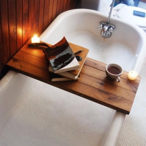 Reading in bathtub