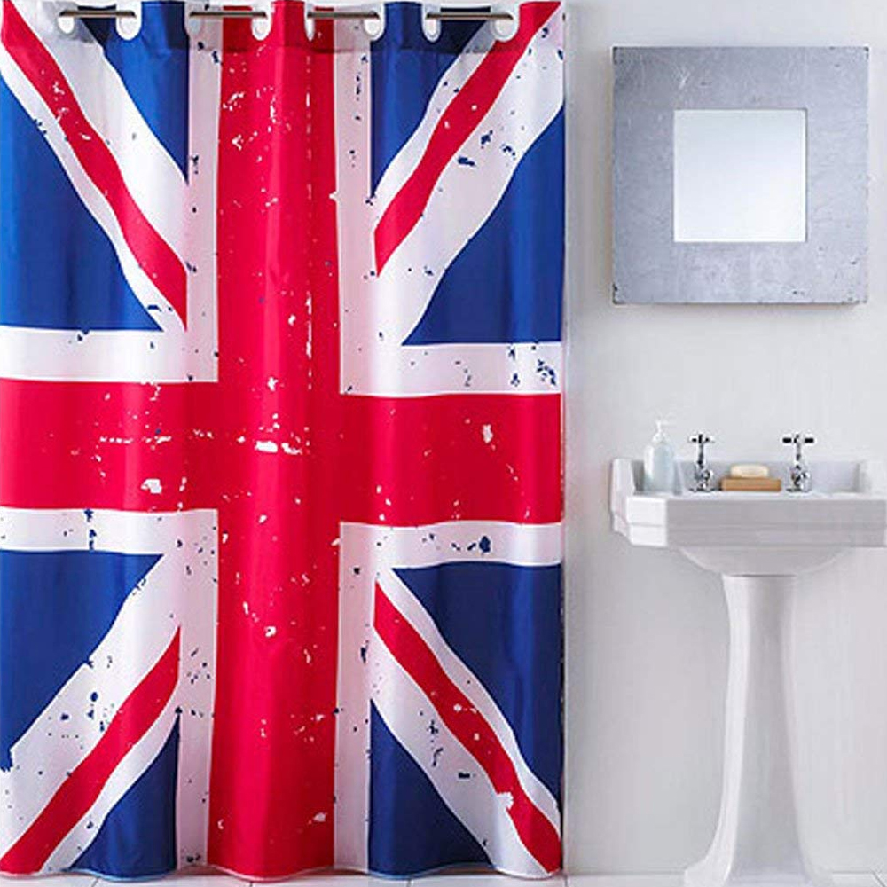Union Jack Hookless Shower Curtain