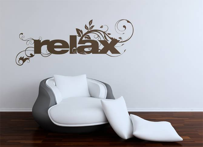 Relax type Wallsticker
